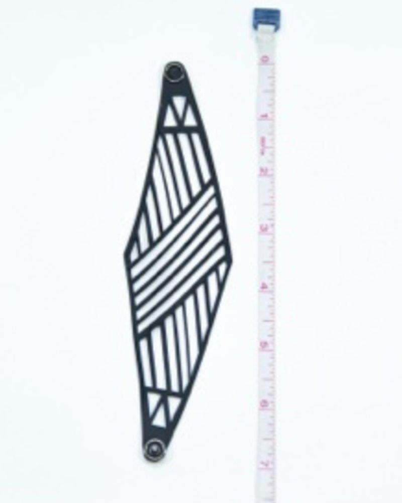 verdigris Diamond Patterned Rubber Bracelet