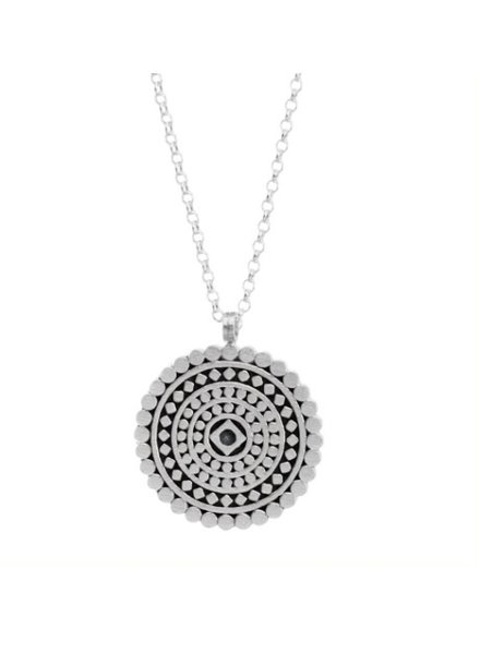 the mindful mandala necklace, sterling silver