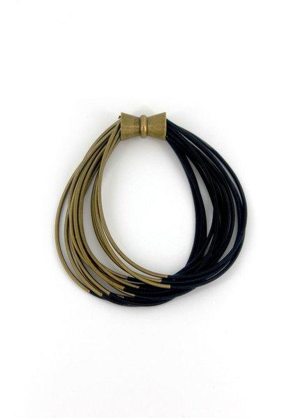 verdigris Black & Bronze Two Tone PinoWire Bracelet with Magnet