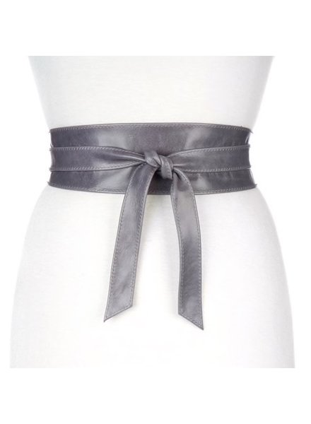 BRAVE Nida leather wrap belt in Cove<br /> Onesize fits most