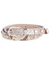 BRAVE Cosette Studded belt in snakey leather