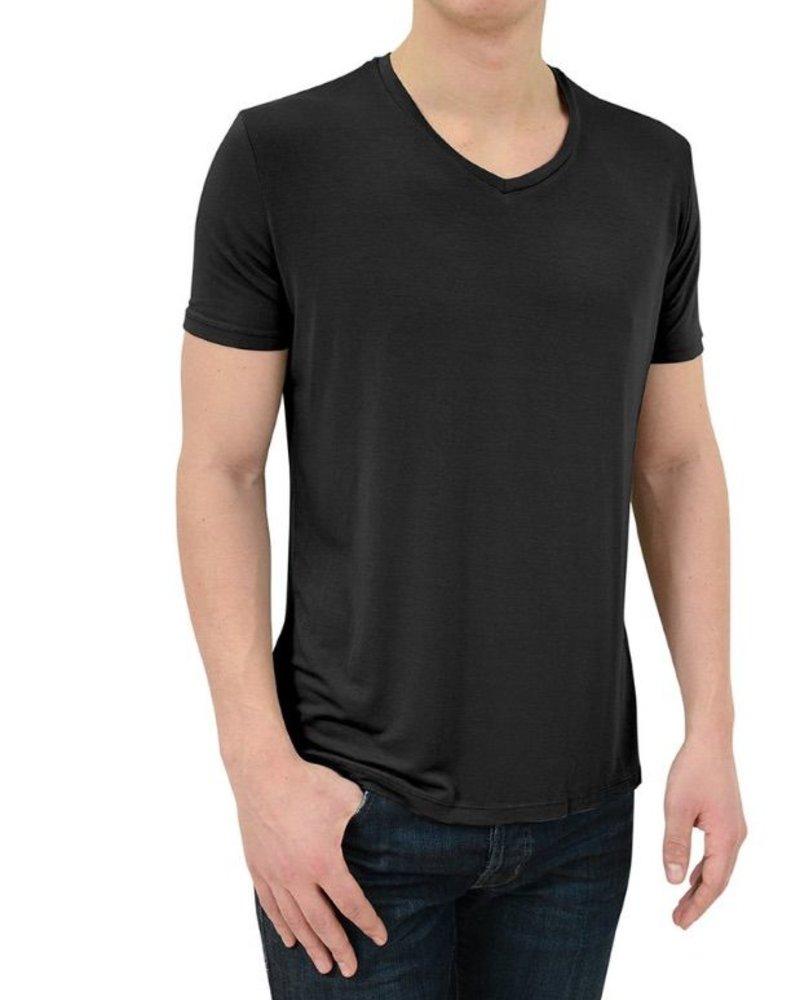 Stone Rose Modal V-Neck T-Shirt