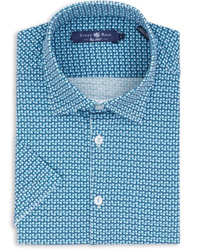 Stone Rose Circle Geo knit shirt