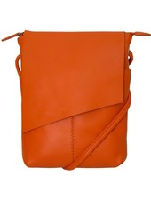 verdigris Cross body leather clutch