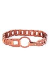 BRAVE Inian leather belt, Brandy