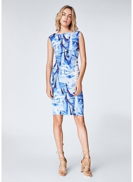 Nicole Miller Faux Crush Midi Dress