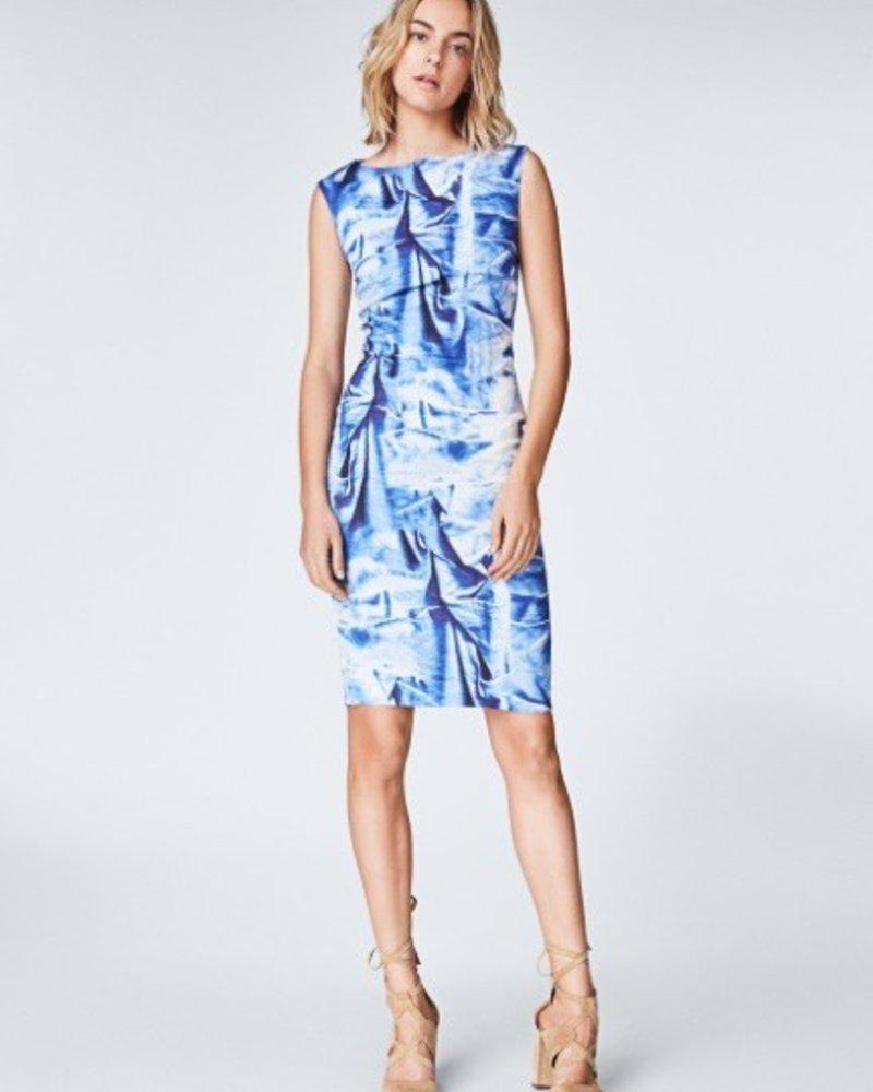 Nicole Miller Faux Crush Midi Dress