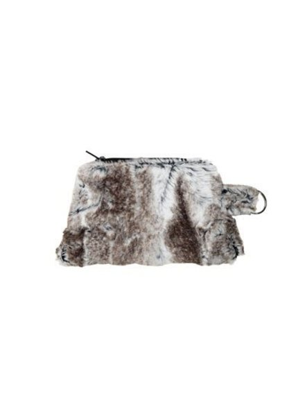 verdigris Faux Fur Coin Purse by Pandemonium. Made in USA