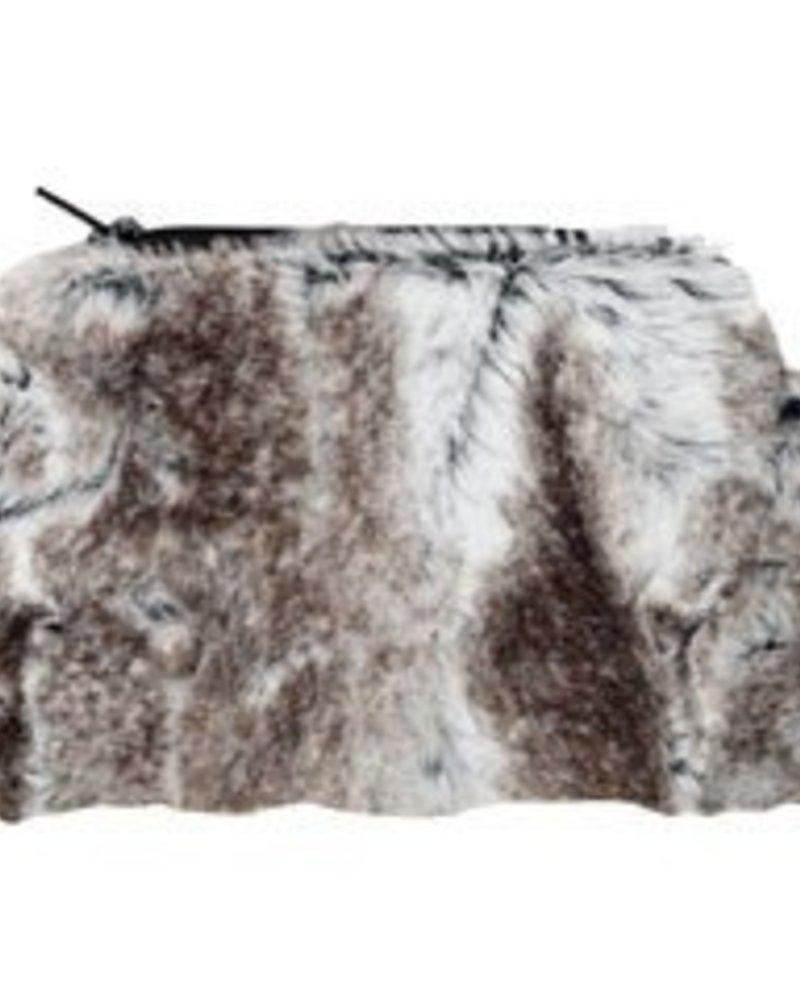 verdigris Faux Fur Coin Purse by Pandemonium. Made in USA