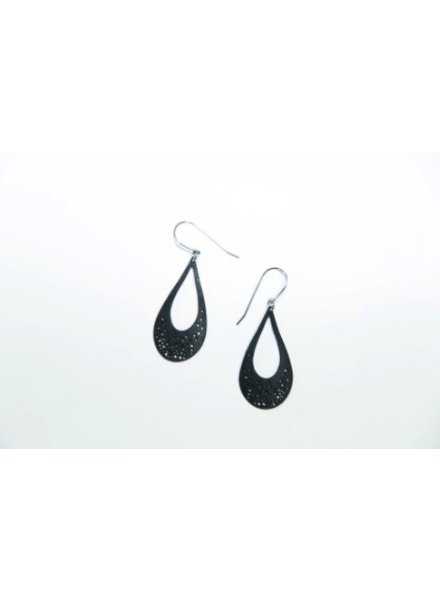 verdigris Tiny Tear Drop Rubber Earrings