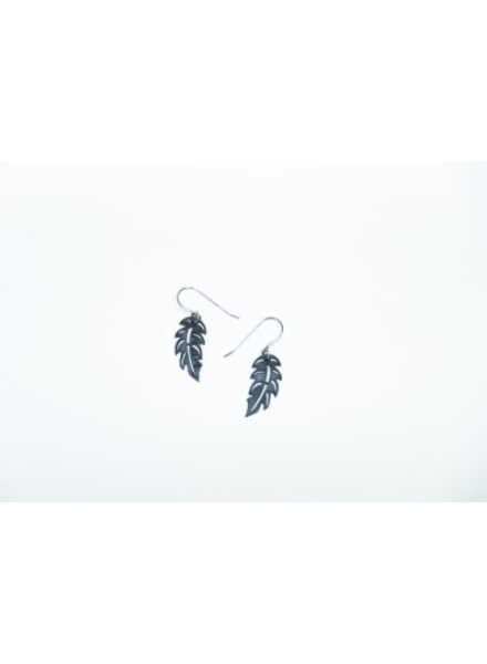 verdigris Tiny Feather Earrings