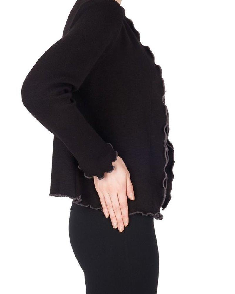 Joseph Ribkoff Cover up sweater w/ruffles