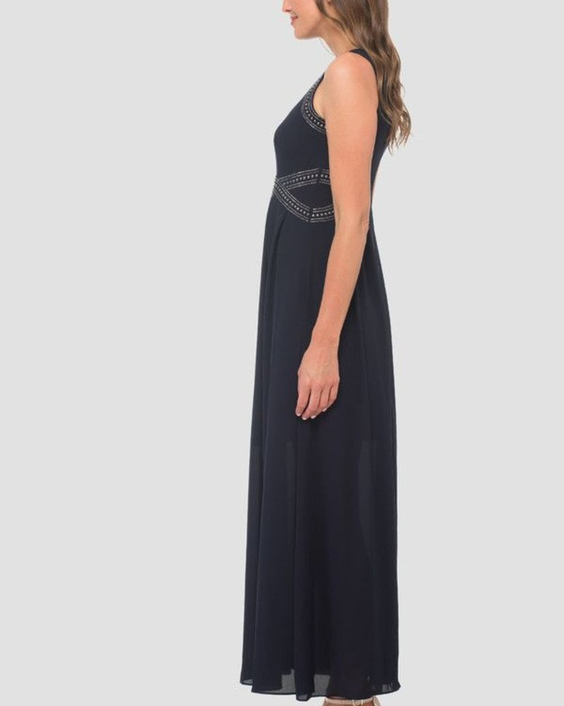 Joseph Ribkoff Cocktail maxi dress with stud detail