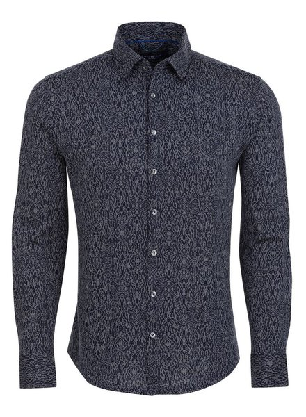 Stone Rose Jacquard Knit button down shirt
