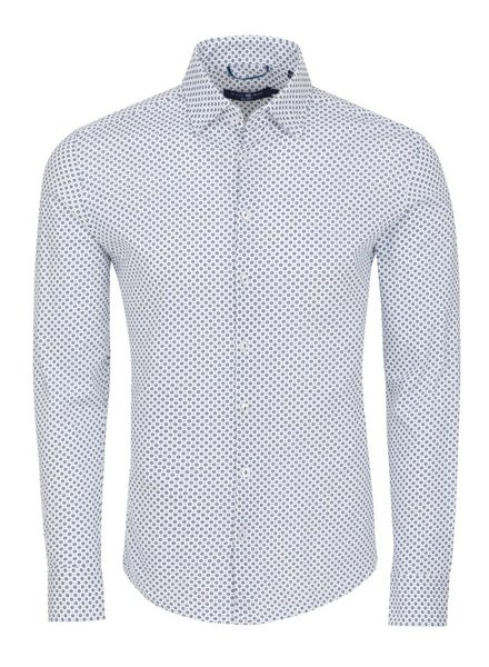 Stone Rose Geometric knit long sleeve button down shirt