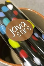 Rare Earth Gallery JAVA STIRS (Fused Glass, Set of 4, Assorted Designs)