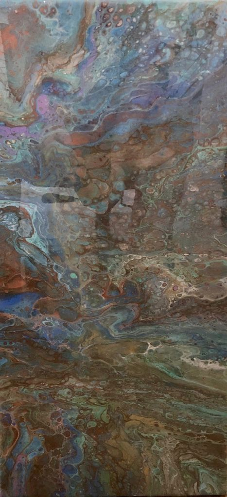 Sandra Stroot Blue Granite (Fluid Acrylic, 12x24)