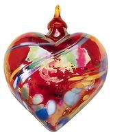 "Rare Earth Gallery ORNAMENT, HEART (3""D.)"