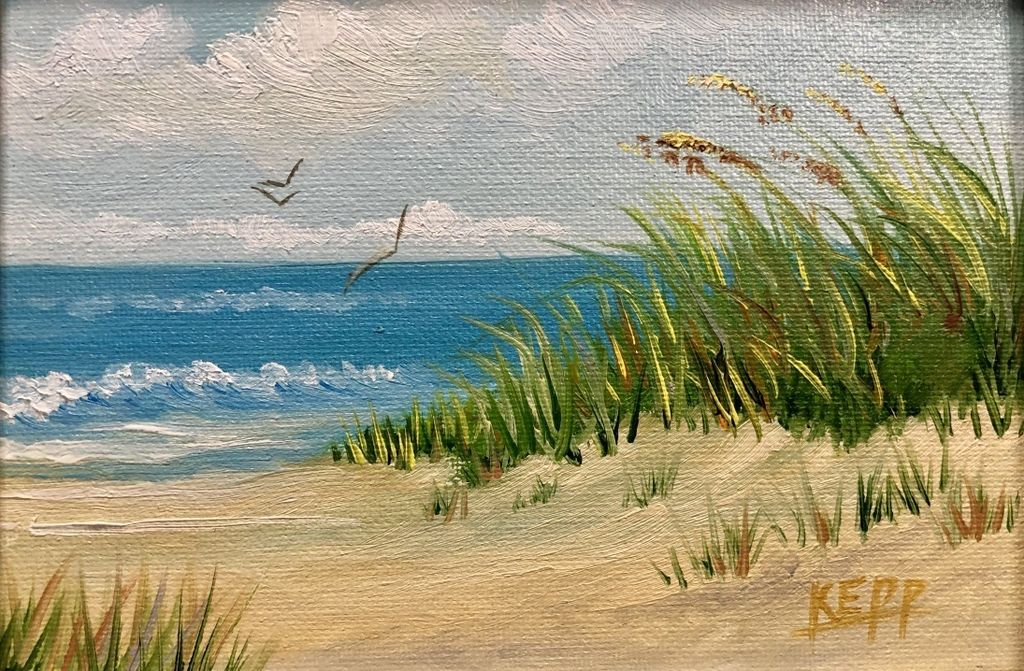 Carol Kepp Miniature Original Oils (Framed, Signed)