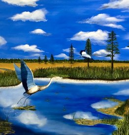 Cliff Potenza The Lowlands Salt Marsh (Original Oil, 30x40)
