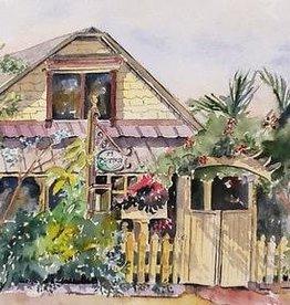 Sharon McCuen 11 Maple Street (Original Watercolor, Mat, Frame, 10x14)