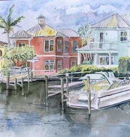 Sharon McCuen Shepherd's Park (Original Watercolor, Mat, Frame, 10x14)