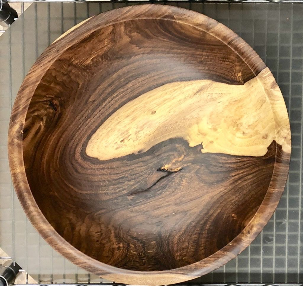 """Charlie Proulx BOWL (Rosewood, 16 x 3.5""""H)"""