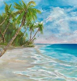 """Guy LeFebvre Surf, Sun, & Sand (Giclee, Framed, 11x14"""")"""