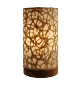 Rare Earth Gallery Lamp, Mini Paper Cylinder