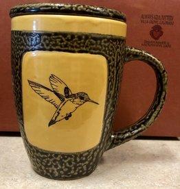 Rare Earth Gallery Hummingbird Mug w/Lid