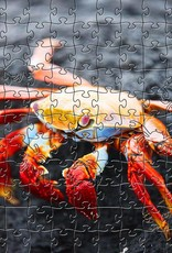 Rare Earth Gallery Red Rock Crab (Sm, 124 Pieces, Artisanal Wooden Jigsaw Puzzle)