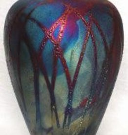 Rare Earth Gallery Vase (Raku, Bottle, #069)