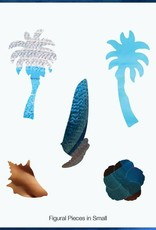 Rare Earth Gallery Blue Hat (Teaser, 50 Pieces, Artisanal Wooden Jigsaw Puzzle)