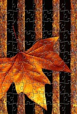 Rare Earth Gallery Drain Leaf (Md, 202 Pieces, Artisanal Wooden Jigsaw Puzzle)