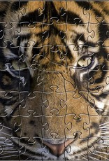 Rare Earth Gallery Amur Tiger (Teaser, 50 Pieces, Artisanal Wooden Jigsaw Puzzle)
