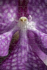 Rare Earth Gallery Purple Orchid (Teaser, 50 Pieces, Artisanal Wooden Jigsaw Puzzle)