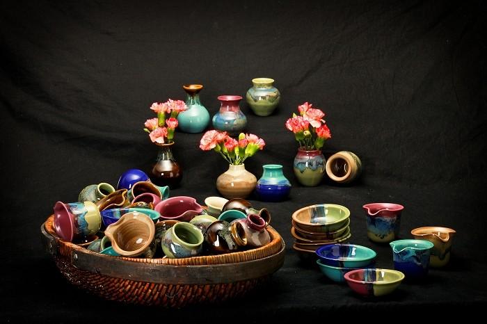 Rare Earth Gallery MINI BOWL, PITCHER or VASE (Asst. Glazes)