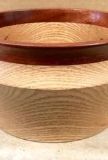 """David L. Jones Bowl (Oak, Bloodwood, 9""""D. x 4.75""""H)"""
