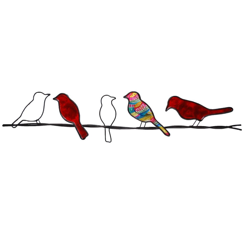 Rare Earth Gallery Birds on a Wire (Wall Decor, Asst. Colors)