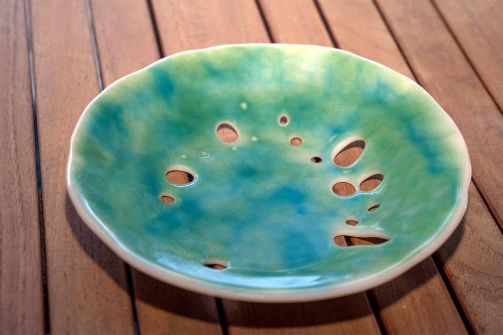 "Karen Hovis Sand Dollar Bowl (10.5""D x 2""H)"