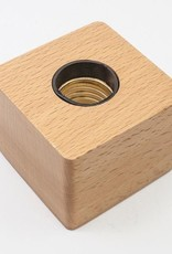 Rare Earth Gallery Wood Light Base (Plug-In, Screw Socket)