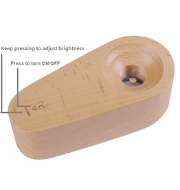 Rare Earth Gallery Wood Light Base (Rechargeable, Dimmable)