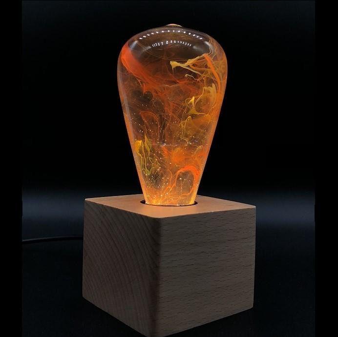 Rare Earth Gallery ANY BULB / WOOD BASE COMBO