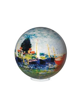 "Rare Earth Gallery RED BOATS (Monet, MOVA GLOBE 4"")"