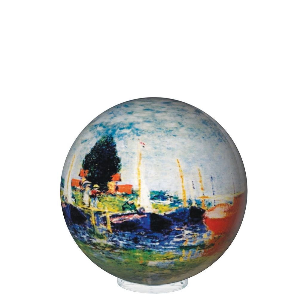 "Rare Earth Gallery RED BOATS by MONET <br /> (MOVA GLOBE 4"")"