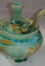 Gail Snively Jar (Sugar w/Spoon & Lid, #122)