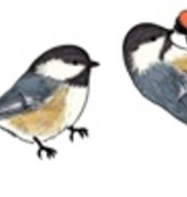 Rare Earth Gallery CHICKADEE (BLACK-CAPPED, EARRINGS)