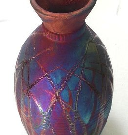 Rare Earth Gallery Vase (Raku, Potter's Banded, #132)