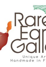 Rare Earth Gallery Vase, (Raku, Contemporary Triangle, #107)