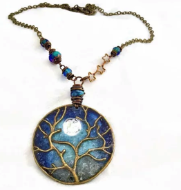Rare Earth Gallery TREE CHAIN NECKLACE (Recycled Glass Bottles)